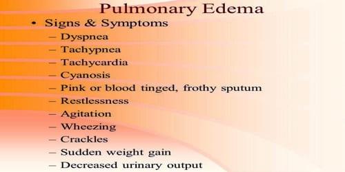 Pulmonary Edema (Symptoms, Diagnosis, Treatment, and Prevention