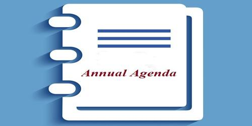 Sample Annual Agenda Format