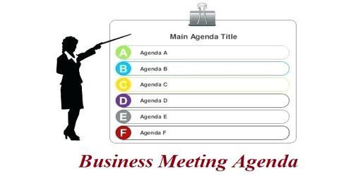 SampleBusiness Meeting Agenda Format