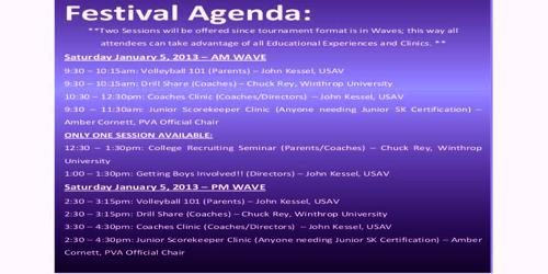 Sample Festival Agenda Format