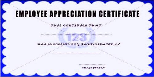 Sample Employee Appreciation Letter Format