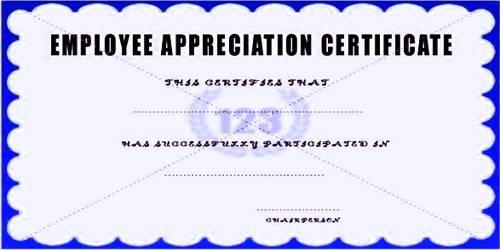 Sample Employee Appreciation Letter Format