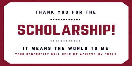 Sample Scholarship Appreciation Letter Format