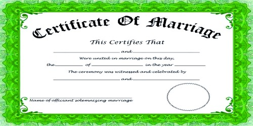 Application for Marriage Certificate from Govt Authority
