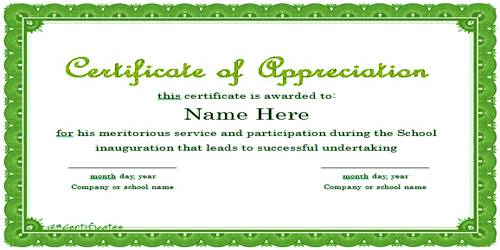 Sample Appreciation Letter format to Trainee