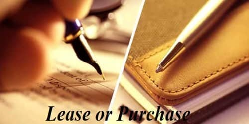 Concept of Lease or Purchase Decision
