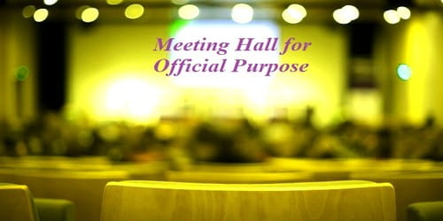 Sample Request for Provision Meeting Hall for Official Purpose