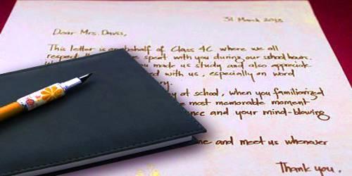 Sample Teacher Appreciation Letter Format