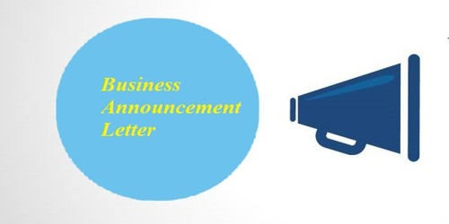 Sample Business Announcement Letter Format