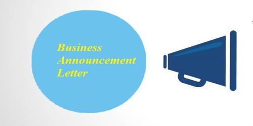 Sample Business Announcement Letter Format