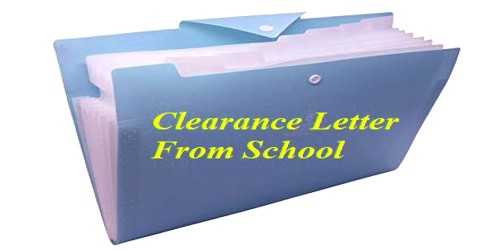 Sample Clearance Letter format From School