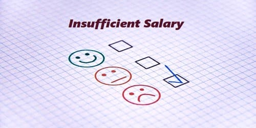 Sample Resignation Letter format for Insufficient Salary
