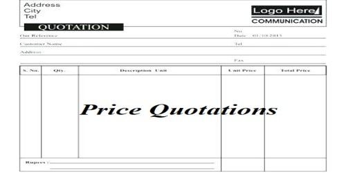 Request Letter for Asking for Price Quotations