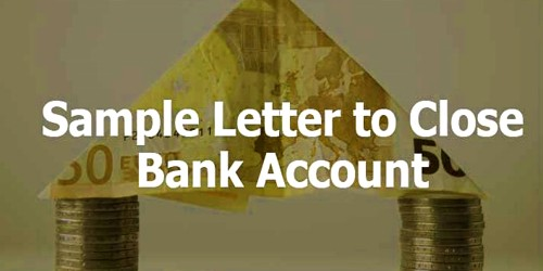 Sample Personal Account Closing Application to Bank Manager