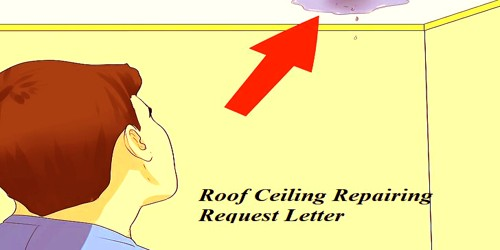 Sample Roof Ceiling Repairing Request Letter to House Owner