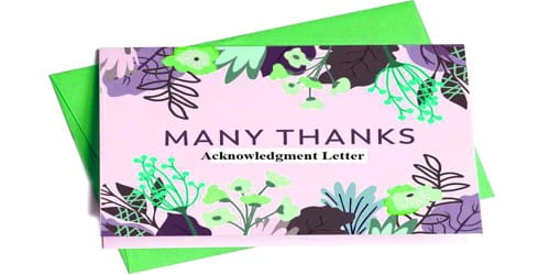 Sample Acknowledgment Letter to Wedding Invitation