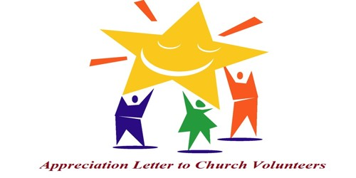 Sample Appreciation Letter to Church Volunteers