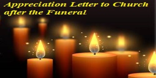 Sample Appreciation Letter to Church after the Funeral