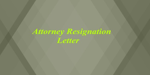 Sample Attorney Resignation Letter Format