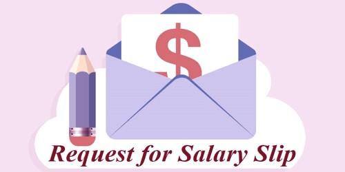 Sample Salary Slip Request Letter Format