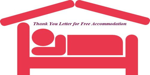 Sample Thank You Letter for Free Accommodation
