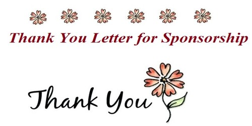 Sample Thank You Letter for Sponsorship of an Event