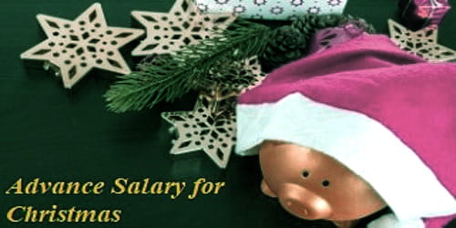 Request Application for Advance Salary for Celebrate Christmas