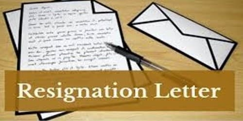 Resignation Letter format for Teacher Due to Admission
