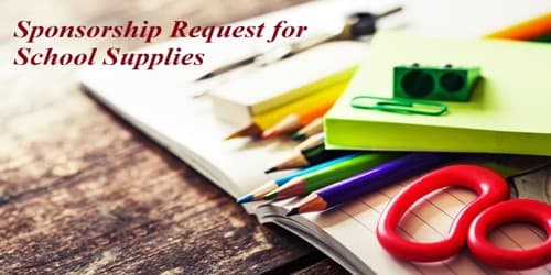 Sample Sponsorship Request Letter for School Supplies