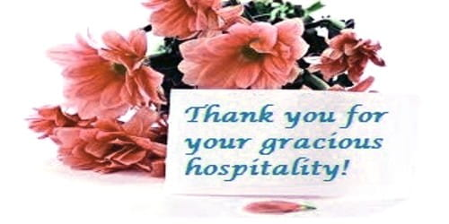 Sample Thanks Letter to Hotel Management for Hospitality