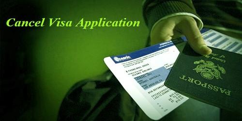Sample Letter to Cancel Visa Application
