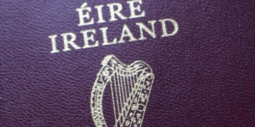 Sample Application format for Irish Passport