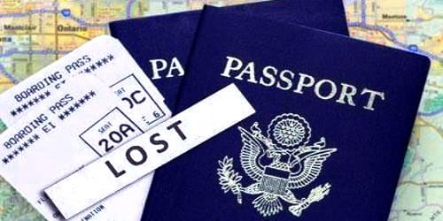 Sample Application for Lost Passport during Travel