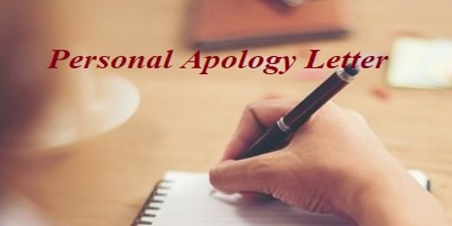 Sample Personal apology letter format