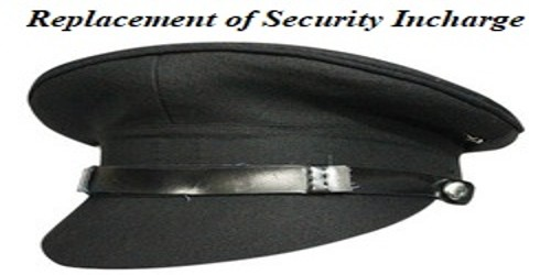 Sample Application for Replacement of Security Incharge