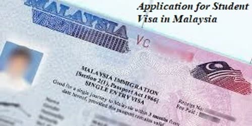 Sample Application for Student Visa in Malaysia