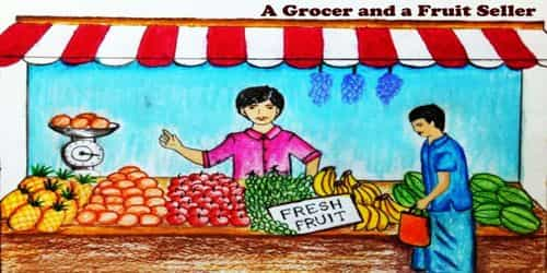 A Grocer and a Fruit Seller