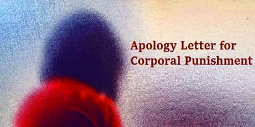 Sample Apology Letter for Corporal Punishment