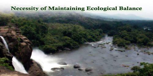 Necessity of Maintaining Ecological Balance