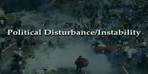 Political Disturbance/Instability