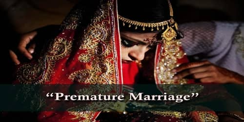 Premature Marriage