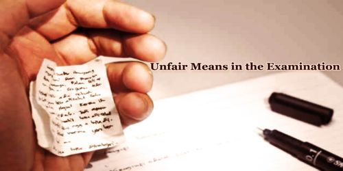 Unfair Means in the Examination