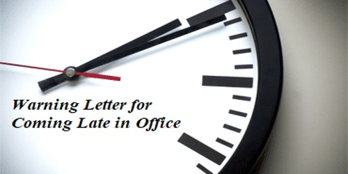 Sample Warning Letter to Employees for Coming Late in Office