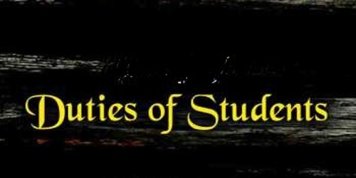 Duties of Student