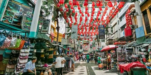 A Busy Street in Kuala Lumpur