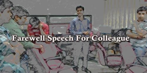 Farewell Speech For Colleague