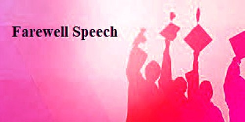 Farewell Speech sample format for University and College Students