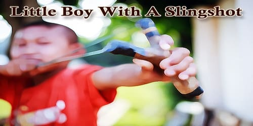 Little Boy With A Slingshot