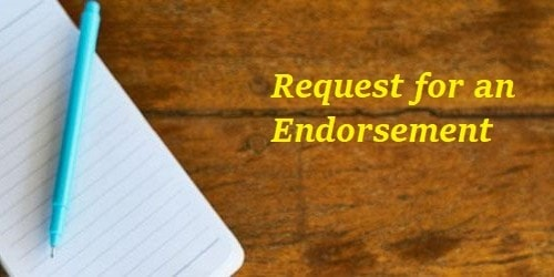 Request Letter for an Endorsement for Seeking Approval