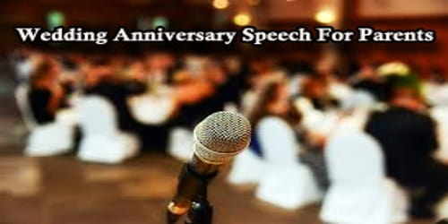 Wedding Anniversary Speech For Parents